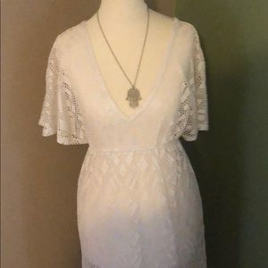 Other - Beautiful white mesh cover up in perfect condition